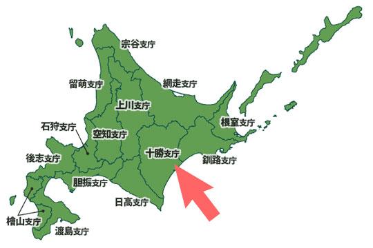 豆の主生産地(北海道)の各支庁